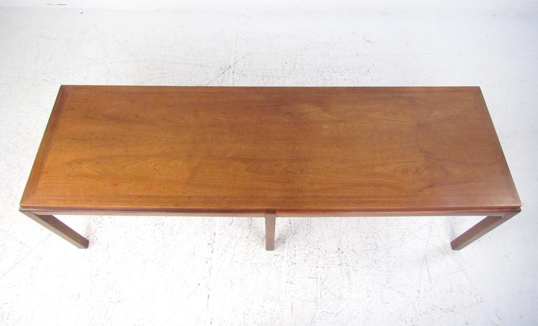 Brass Mid-Century Modern Coffee Table in the Style of Edward Wormley For Sale