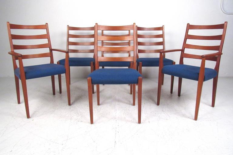 Scandinavian Modern High Back Teak Dining Chairs By Moreddi At 1stdibs