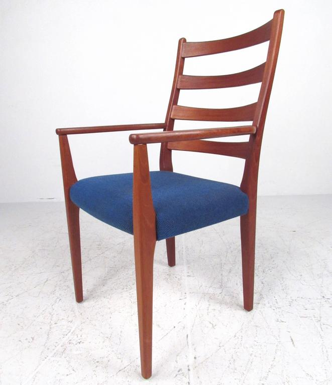 Scandinavian modern high back teak dining chairs by for Modern high back dining chairs