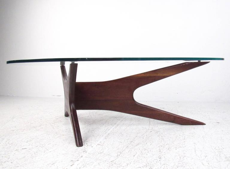 Mid Century Modern Kidney Shaped Coffee Table In The Style Of Adrian Pearsall 2