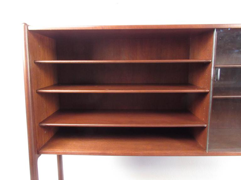 Hans wegner sideboard with upper shelf cabinet for sale at for Upper cabinets for sale