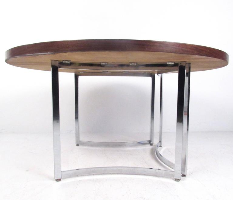 Mid-20th Century Mid-Century Modern Burl Wood Dining Table For Sale
