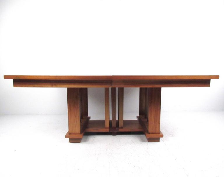Impressive Vintage Modern Dining Table in the Style of Frank Lloyd Wright 5