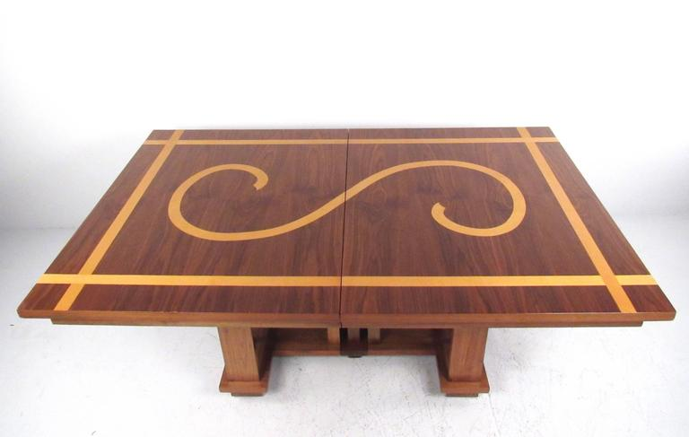 Impressive Vintage Modern Dining Table in the Style of Frank Lloyd Wright 2