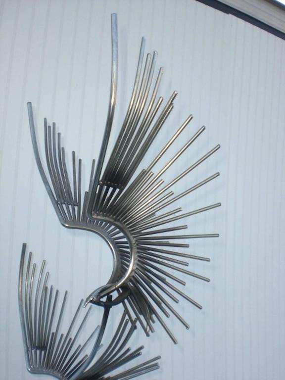 Mid-Century Modern Mid-Century Curtis Jere Metal Sculpture For Sale
