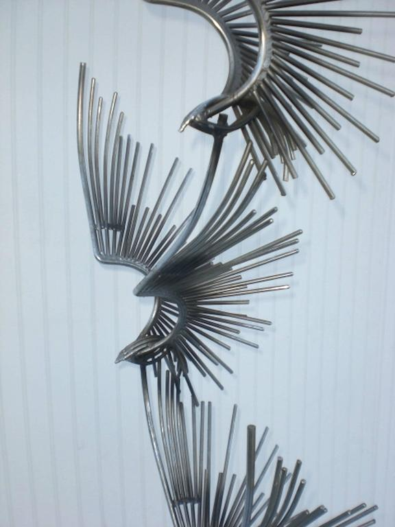 Mid-Century Curtis Jere Metal Sculpture In Good Condition For Sale In Brooklyn, NY