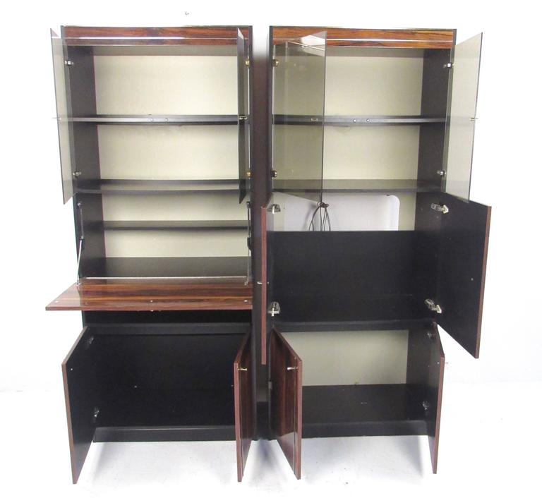 20th Century Pair of Modern Bookshelf Display Cabinets For Sale
