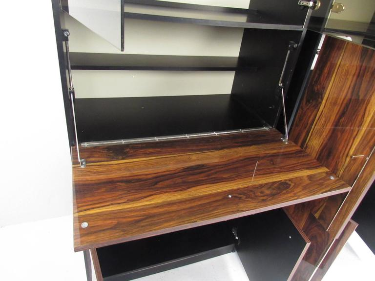 Glass Pair of Modern Bookshelf Display Cabinets For Sale