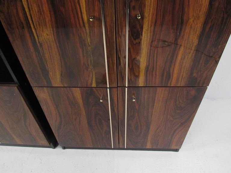 Pair of Modern Bookshelf Display Cabinets For Sale 2