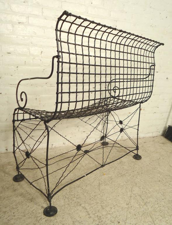 Decorative Wrought Iron Bench For Sale 1