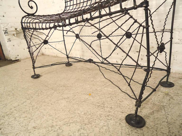Decorative Wrought Iron Bench For Sale 3