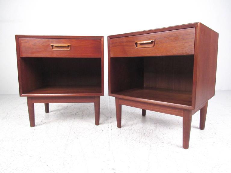 Pair of scandinavian modern teak nightstands for sale at for Modern nightstands for sale