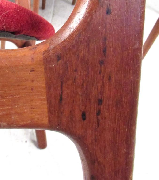 Upholstery Set of Erik Buch Teak Dining Chairs for O.D. Mobler For Sale
