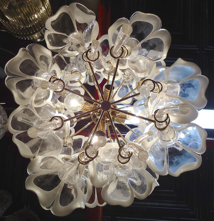 Chandelier made of glass flowers for sale at 1stdibs for Flowers made of glass