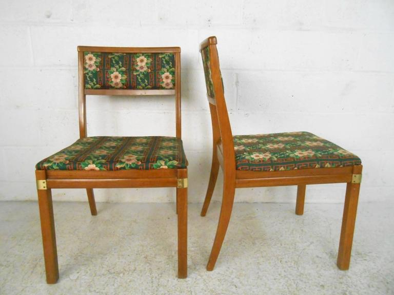 Set of Six Mid-Century Modern Dining Chairs In Good Condition For Sale In Brooklyn, NY