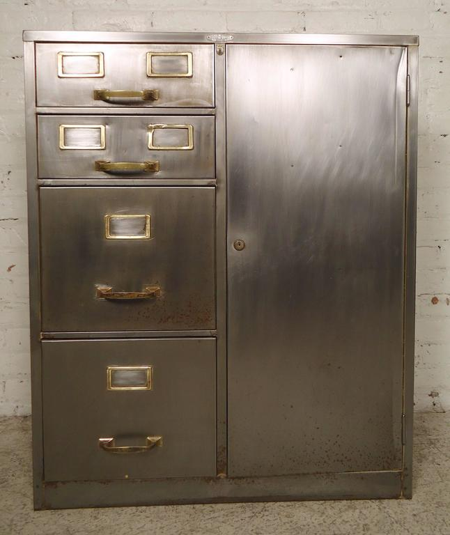 industrial metal cabinet industrial metal file cabinet for at 1stdibs 17835