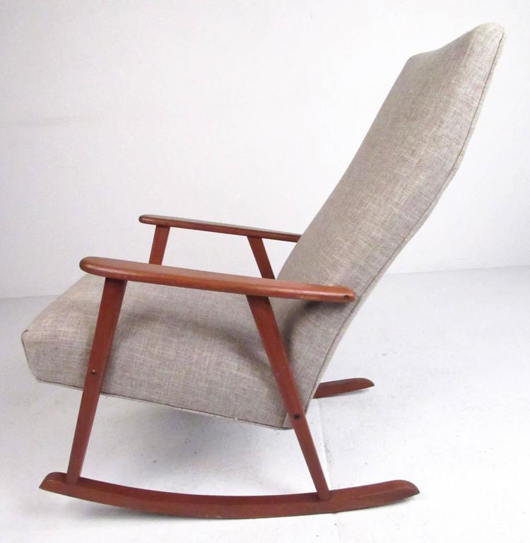 Enjoyable Mid Century Modern Danish Teak Rocking Chair Creativecarmelina Interior Chair Design Creativecarmelinacom