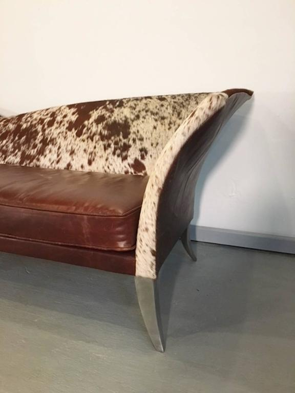 One Of A Kind Sofa In Cowhide For Sale At 1stdibs