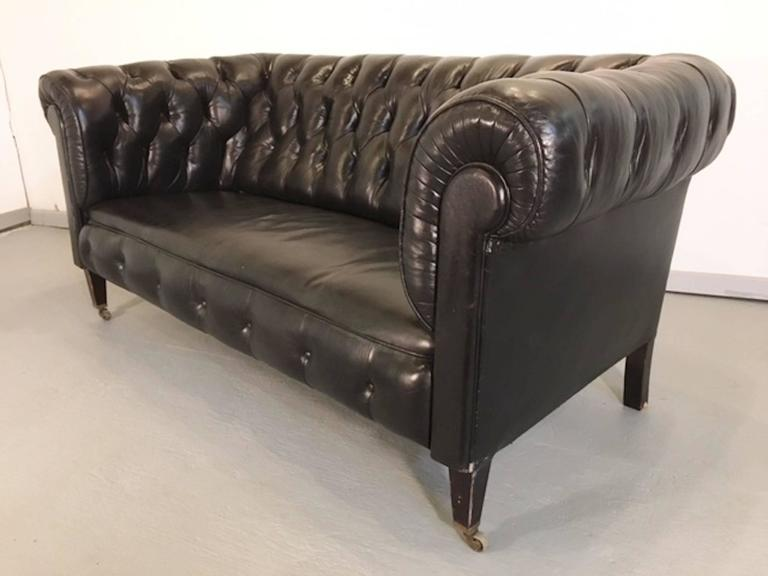 three piece chesterfield sofa set for sale at 1stdibs. Black Bedroom Furniture Sets. Home Design Ideas