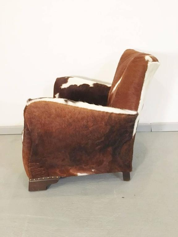Outstanding Pair Of Unique French Smoking Chairs In Stunning Cowhide Frankydiablos Diy Chair Ideas Frankydiabloscom