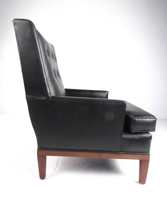 American Mid-Century Modern Lounge Chair with Ottoman For Sale