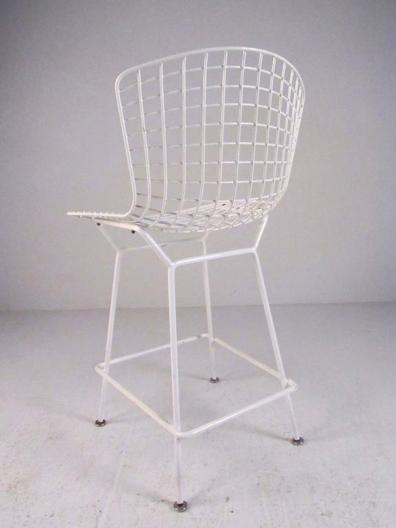 American Set of Harry Bertoia Wire Bar Stools by Knoll International For Sale