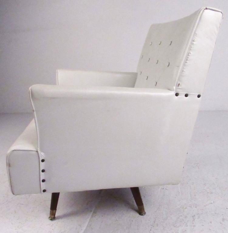 American Mid-Century Swivel Rocker Lounge Chair For Sale