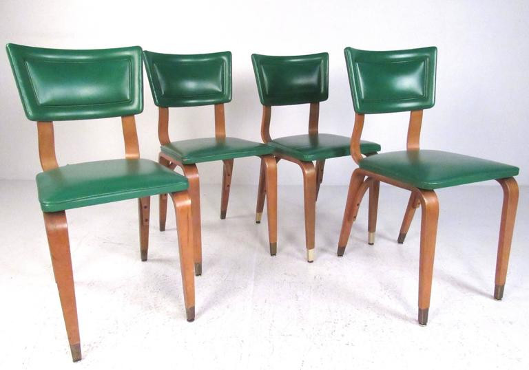 Set Of Four Midcentury Thonet Style Dining Room Chairs For