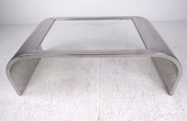 20th Century Modern Waterfall Coffee Table in the style of Brueton For Sale