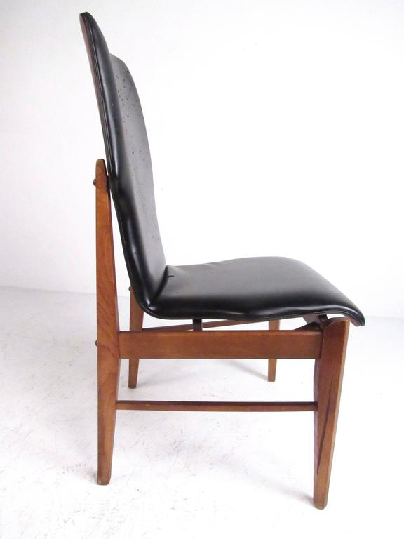 American Mid-Century Set of High Back Dining Chairs For Sale