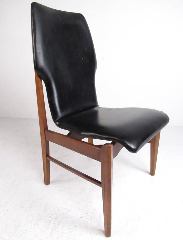Mid-Century Modern Mid-Century Set of High Back Dining Chairs For Sale