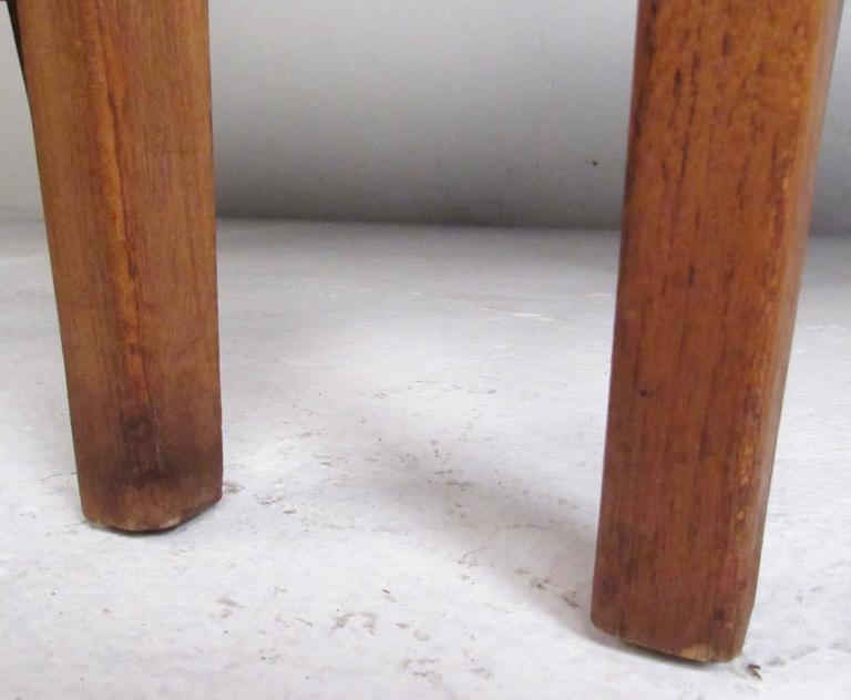 Mid-Century Set of High Back Dining Chairs For Sale 2