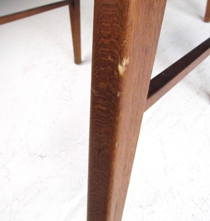 Mid-Century Set of High Back Dining Chairs For Sale 3