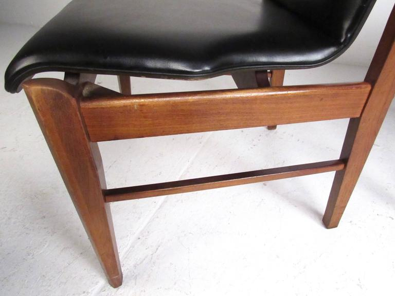 Mid-20th Century Mid-Century Set of High Back Dining Chairs For Sale