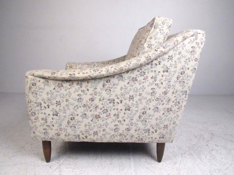 Scandinavian Modern Mid-Century Modern Upholstered Lounge Chairs For Sale