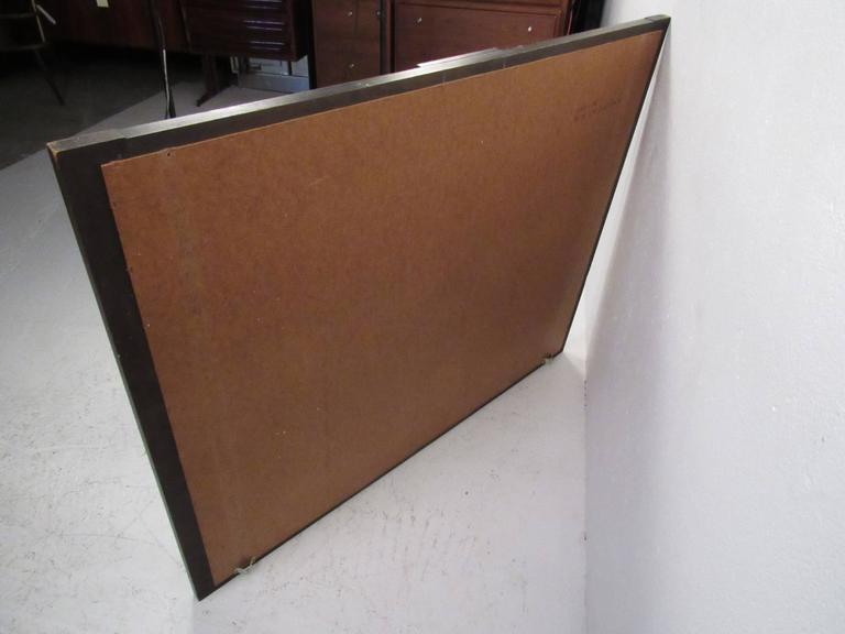 Mid-Century Modern Mid-Century Brutalist Wall Mirror by Lane For Sale