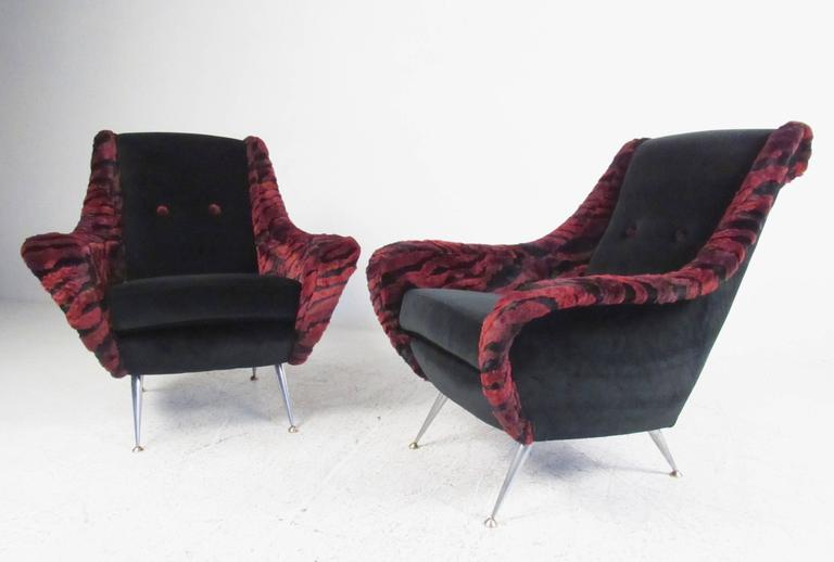 Modern Gio Ponti Style Lounge Chairs For Sale