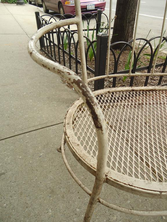 Iron Mid-Century Lawn Benches In Good Condition For Sale In Brooklyn, NY