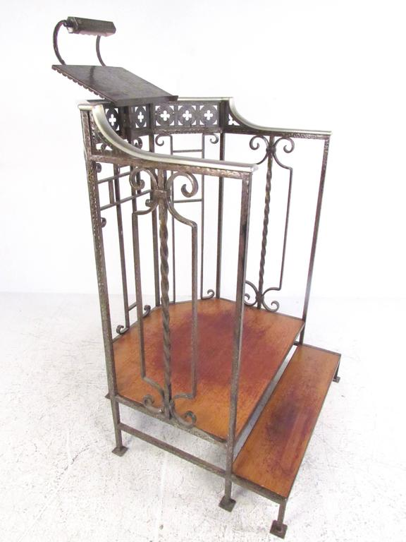 Vintage Cast Iron Podium With Lectern Or Host Stand For