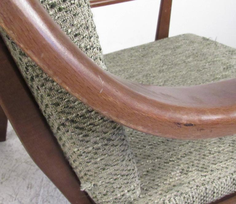 Upholstery Pair of Mid-Century Finn Juhl Style Lounge Chairs