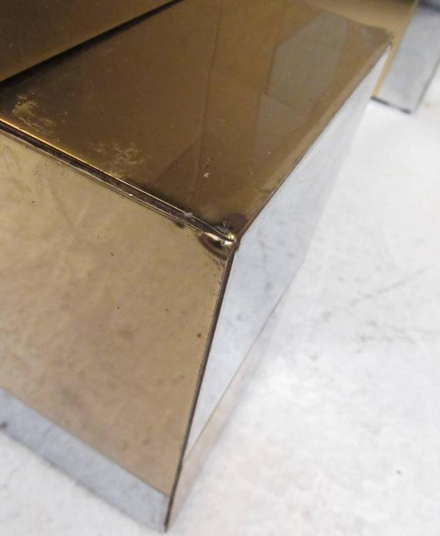 Brass Paul Evans Cityscape Coffee Table For Sale