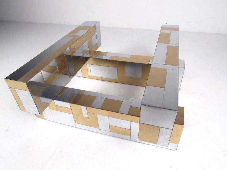 American Paul Evans Cityscape Coffee Table For Sale