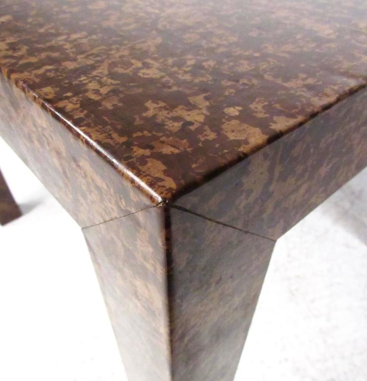 Late 20th Century Edward Wormley Style Parsons Side Table For Sale