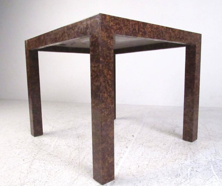 Mid-Century Modern Edward Wormley Style Parsons Side Table For Sale
