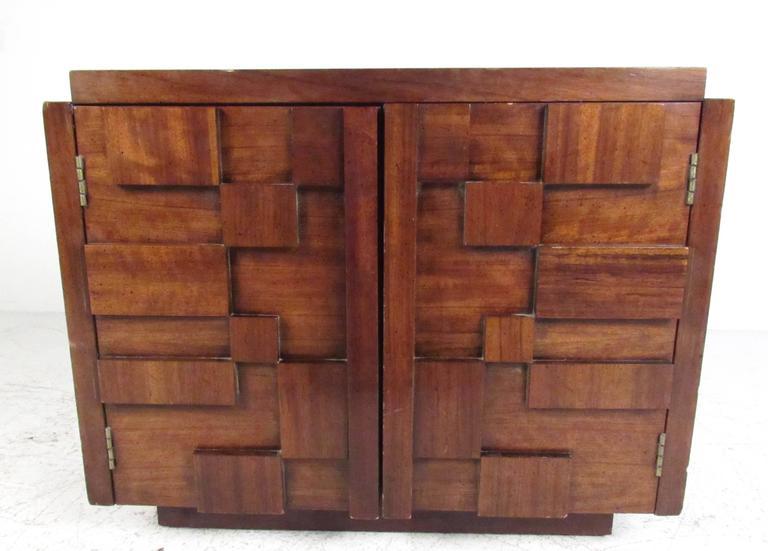 Mid-Century Brutalist Bedroom Set by Lane Furniture For Sale at 1stdibs