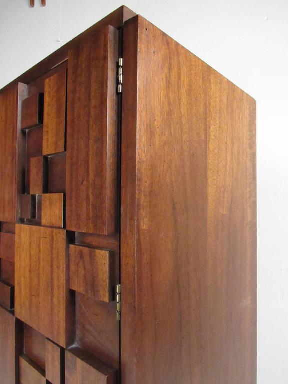 Mid-Century Brutalist Bedroom Set by Lane Furniture For Sale 1