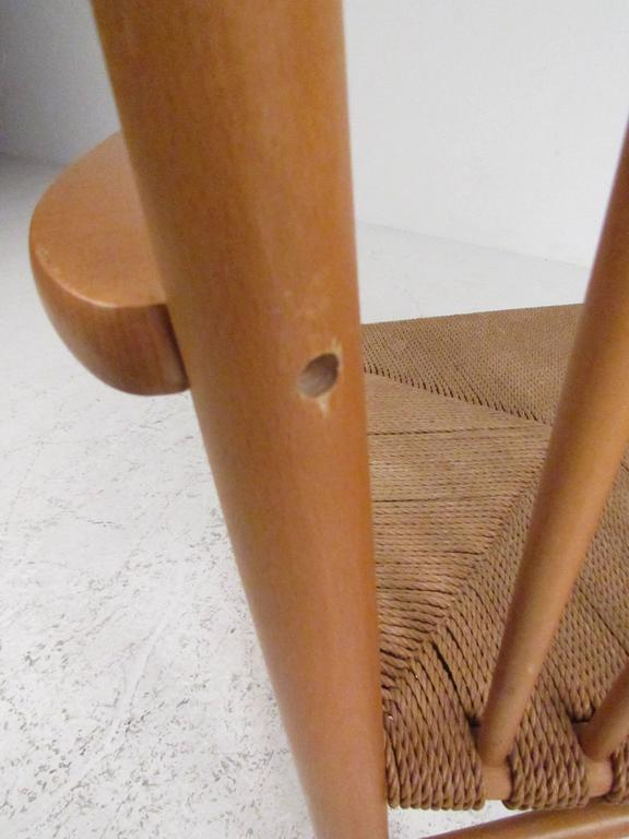 Hans Wegner J.16 Rocking Chair with Rush Seat For Sale 3