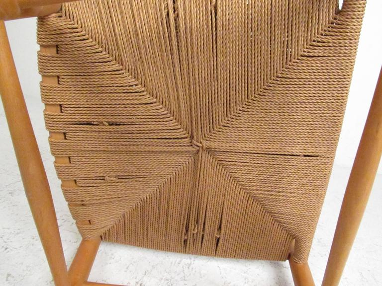 Hans Wegner J.16 Rocking Chair with Rush Seat For Sale 2