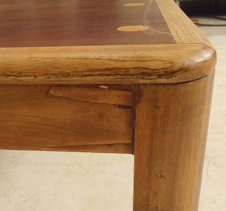Mid-Century Modern Rare Table by Lane with Inlay For Sale