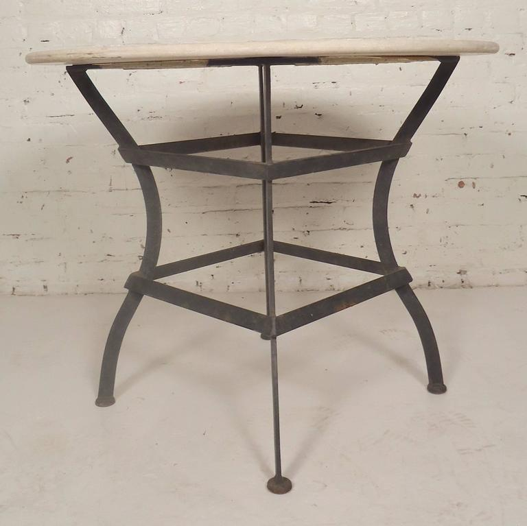 Round stone top dining table for sale at 1stdibs for Round stone top dining table